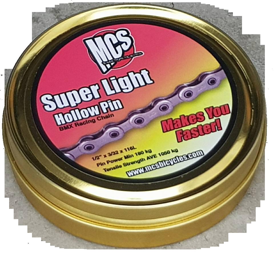 1//2x3//32 MCS Super Light Hollow Pin BMX Chain