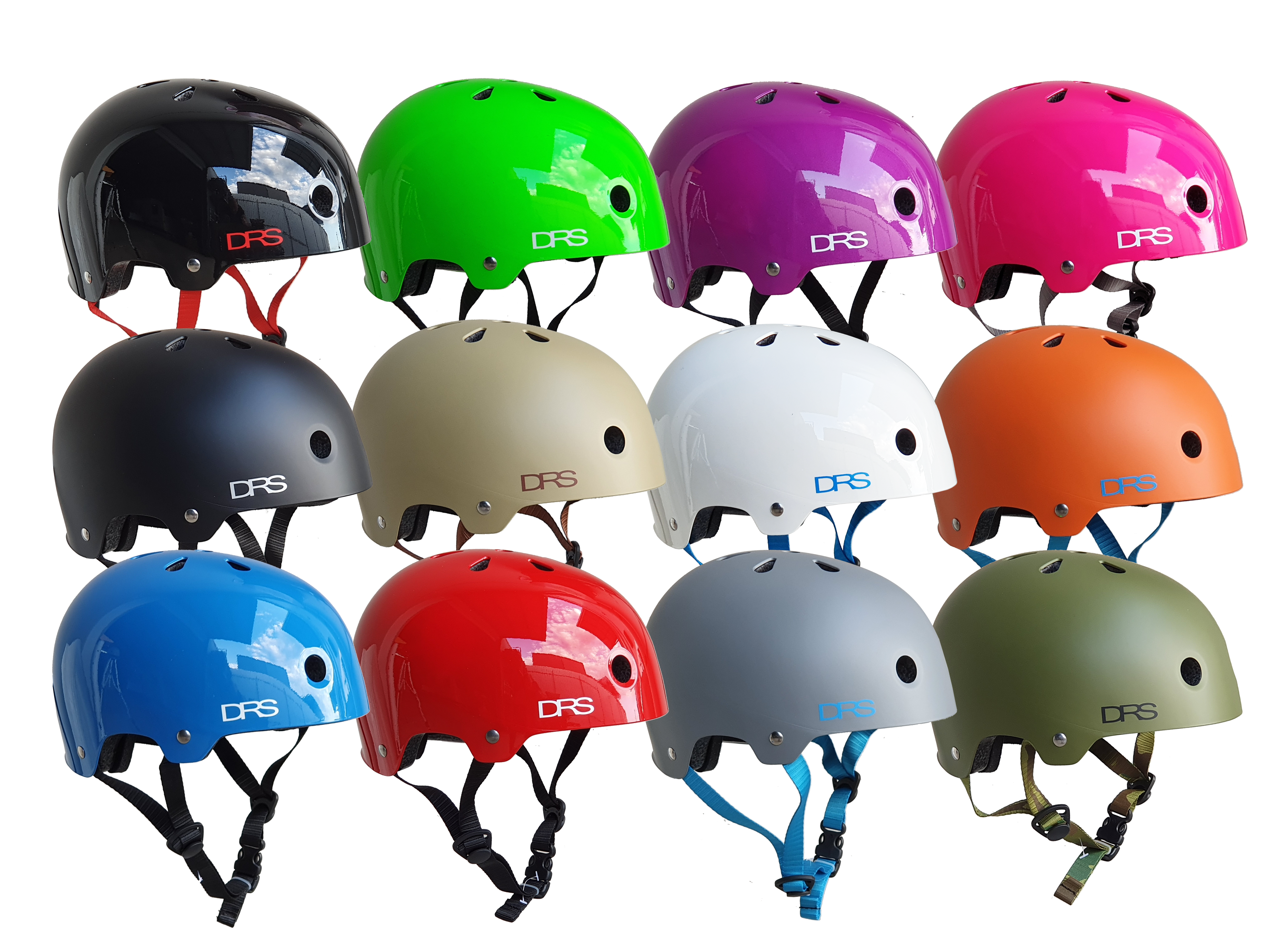 Gloss Red DRS BMX Cycling Skate Scooter Helmet Australian Standards Approved