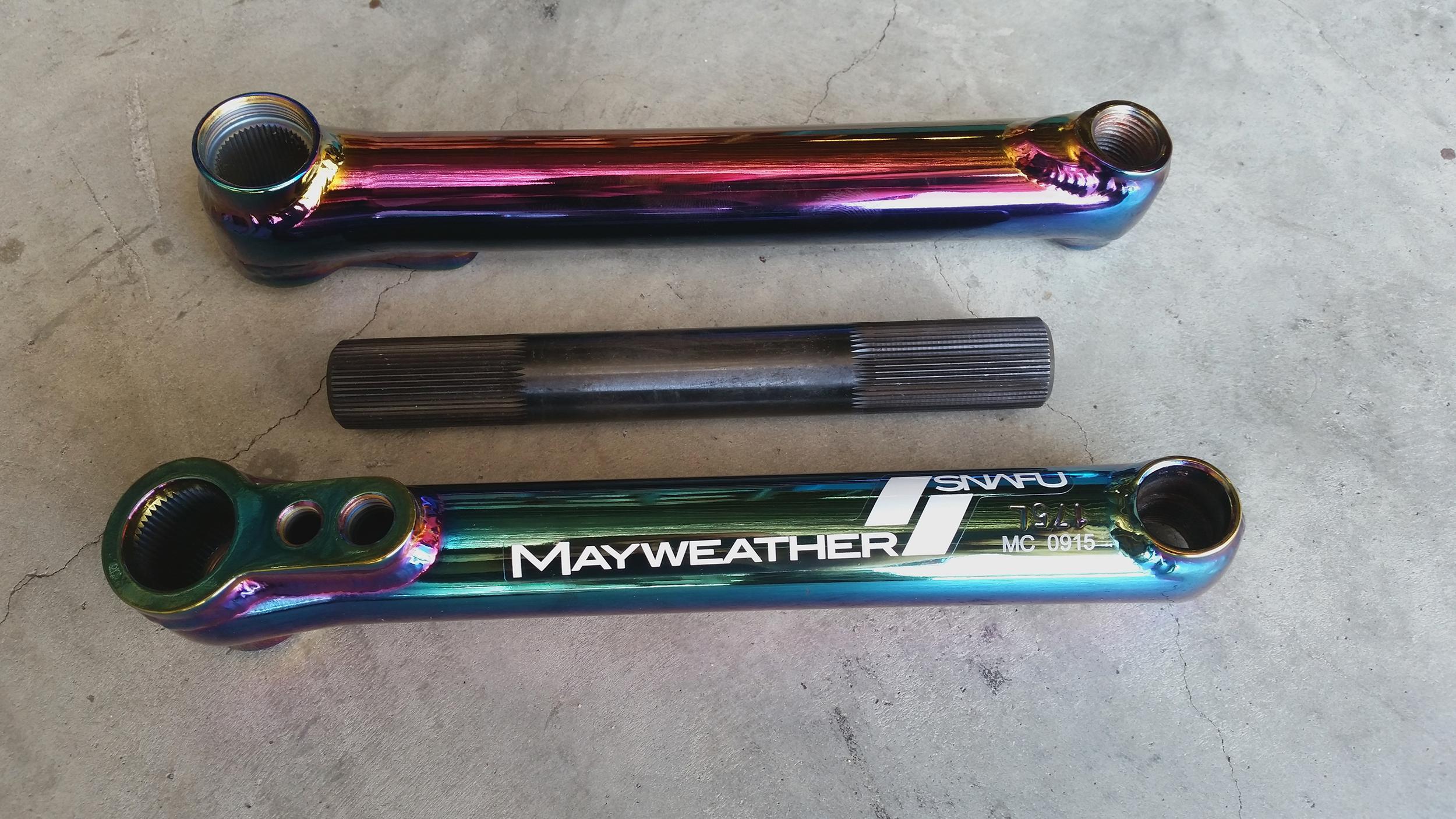 SNAFU BMX Crank Set Mayweather Chrome 175mm
